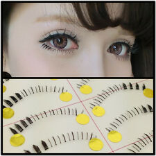 10 XPairs Natural Lower Under Bottom Fashion False Black Line Eyelashes Black