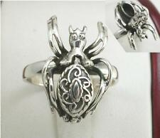 UNIQUE .925 STERLING SILVER SPIDER POISON RING size 6  style# r1242