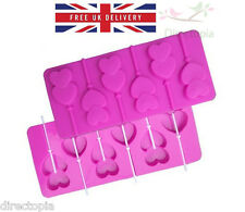 Silicone Double Heart Shaped Chocolate Lollipop Bake Ware Mould Love Valentine