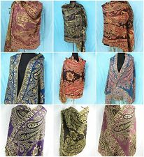 *US SELLER* 5pcs rose paisley retro viscose pashmina scarf at Wholesale Prices