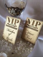 Personalised wooden wedding name place cards; VIP; anniversary; table decor