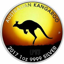 2017 1 OZ SILVER KANGAROO AT SUNSET - MINTAGE 100 PCS WITH BOX & COA