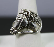Solid Sterling Silver Horse Head Ring
