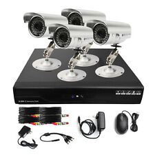 HD Real-Time 4CH CCTV DVR Home Video Security System Kit 4 Outdoor Color Camera