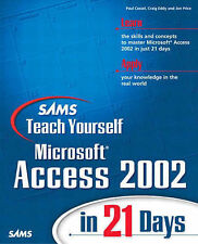 Price, Jon, Eddy, Craig, Cassel, Paul Sams Teach Yourself Microsoft Access 2002