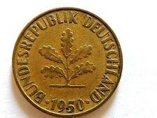 1950G German Ten (10) Pfennig Coin Lot K