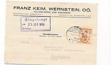 Trachten-Geschäfts-Postkarte 1959 aus Wernstein, Fallenfabrik   (C28)