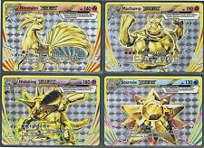 ALL 4 BREAK CARDS-XY EVOLUTIONS Pokemon-Machamp Ninetales Starmie Nidoking- MINT