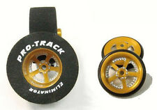 "Pro Track ""Evolution Gold"" 1 3/16"" x .500 Rear and Front Drag 1/24 Slot Car"