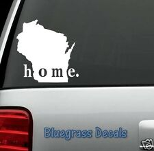 E1046 WISCONSIN HOME STATE Decal Sticker Car Truck SUV LAPTOP MIRROR SURFACE