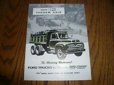 1955 Ford Trucks Sales Brochure - Series T-700 T-800 Tandem Axle - FD-7542