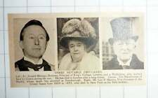 1920 Dr Ronald Montagu Burrows, Levi Morton And The Marchioness Of Huntly