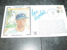 1984 DON DRYSDALE  Signed First Day Cover ENVELOPE CACHET AUTOGRAPH  AUTO COA