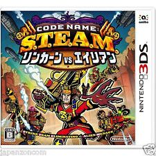 Used Code Name: STEAM Lincoln VS Aliens NINTENDO 3DS JAPANESE  IMPORT