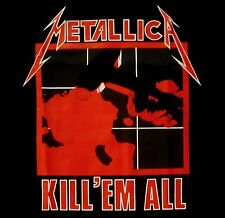 METALLICA cd cvr KILL 'EM ALL Official Black SHIRT Size LRG new