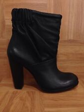 NEW! Modern Vintage Eloise Black Venezia Leather High Heel Boots Slouch 38.5 8.5