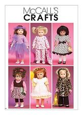 "McCalls SEWING PATTERN M6005 18""/45cm  Doll Clothes"
