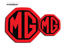 Mg ZR LE500 inserimento BADGE MK2 GRILL ANTERIORE POSTERIORE BOOT Decalcomania 59MM 95mm Nero & Rosso