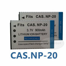 2pack 3.7V Replacement Battery For Casio NP-20 Exilm EX-S600 S800 Z70 Z75