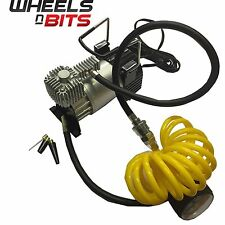 12v Car Van 4x4 SUV Air Compressor Pump Tyre With Airline an Gauge Quick Inflate