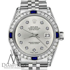 Rolex 36mm Datejust Silver Color Dial with Sapphire &10 Round Diamond