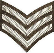 Iron On/ Sew On Embroidered Patch Badge Sargeant Sargent Stripes Army Rank
