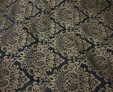 Charcoal  Cleopatra Chenille Gold Damask Print upholstery furniture fabric