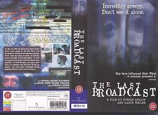 The Last Broadcast, Horror Video Promo Sample Sleeve/Cover #9971