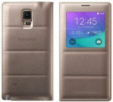 100% Genuine SAMSUNG FLIP WALLET S Vista Custodia Cover per Galaxy 4 oro nuove note