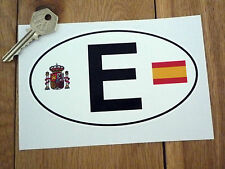 "E SPAIN España Coat of Arms & Flag ID PLATE Car Sticker 6"" Van SPANISH Classic"