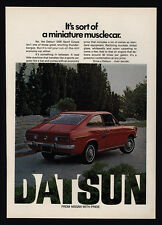 1971 DATSUN 1200 Sport  Coupe - Car - Mini Muscle Car - VINTAGE AD