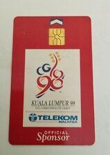 Malaysia TM Sponsor Commonwealth Games Phone Card with Sukom 98 Logo 电话卡