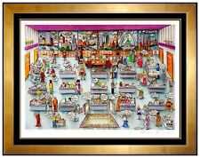 Charles FAZZINO 3D Serigraph Signed Pop Artwork Framed 9 to 5 Hand Assembled SBO