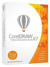 Corel CorelDRAW Home and Student Suite X7 -3 Users Graphic Design Software
