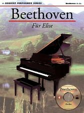 Beethoven: Fur Elise Sheet Music Concert Performer Series Book with di 014011945