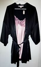 *NWT* VICTORIA'S SECRET WOMENS 2 PIECE BLACK PINK SLEEPWEAR SET ONE SIZE T174 A1
