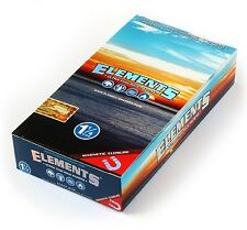 Elements Full Box With 25 Packs Rice Rolling Papers Magnetic Closure