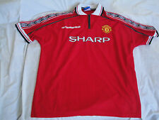 Rare MANCHESTER UNITED 1998/2000 Vintage Umbro Football Shirt Jersey Size L/XL