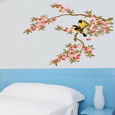 Large Birds Flower Tree Mural Removable Wall Sticker Vinyl Decal DIY Home Decor