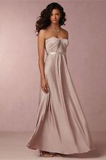 JENNY YOO Farrah Strapless Sweetheart Bridesmaid Rose Taupe Gown Dress Size 2
