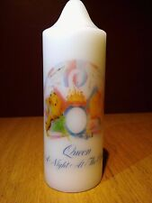 QUEEN 'A NIGHT AT THE OPERA' CREST CHURCH CANDLE. Freddie Mercury, Brian May