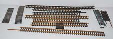 Vintage Atlas HO track straights various lengths BRASS 86 linear inches total