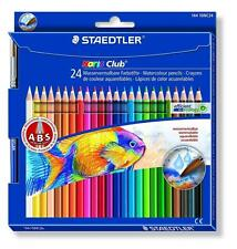 PAQUETE DE 24 STAEDTLER NORIS CLUB ACUARELA ARTE HEXAGONAL ABS LÁPICES COLORES