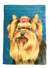 Yorkshire Terrier Dog Flag~Size 12x18 Mini Flag~Russ Berrie~New In Plastic-Xmas