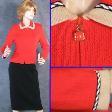 BEAUTIFUL! ST JOHN COLLECTION SANTANA KNIT RED JACKET SZ 4 6