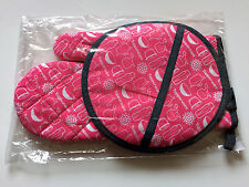 Tupperware Consultant Award Oven Mitt & Pot Holder Set New Pink/Grey
