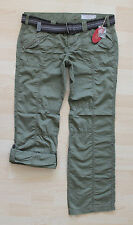 ***NEU**EDC ESPRIT  Damen Play Hose Turn-Up Hose+Gürtel Cargo Chino Gr. 42 REG
