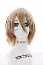 W-10-22 blonde court Cheveux 33cm Bob Perruque COSPLAY cheveux Perruque