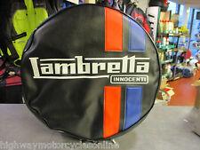 """LAMBRETTA S3 Li TV SX GP ALL MODELS 10"""" SPARE WHEEL COVER BLACK INNOCENTI"""