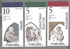 CANADA 1995  Set of 3 Booklets  - CHRISTMAS Statues (F/v=$11.60)- Complete - MNH